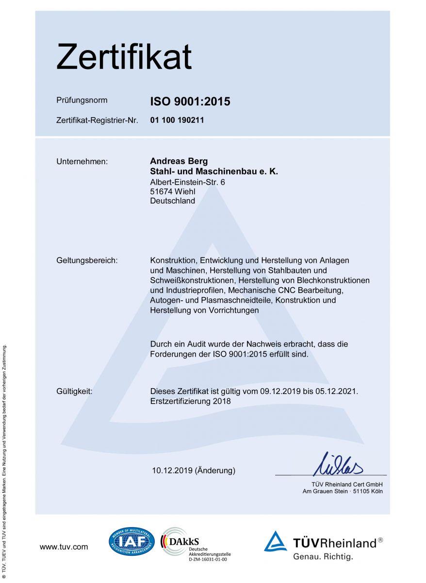 Zertifikat-ISO-9001:2015